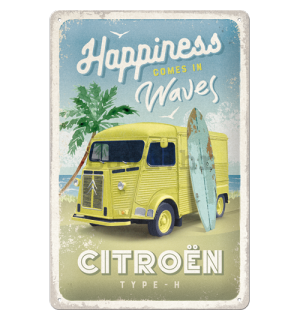 Metalna tabla: Citroën Type H (Happiness Comes In Waves) - 20x30 cm